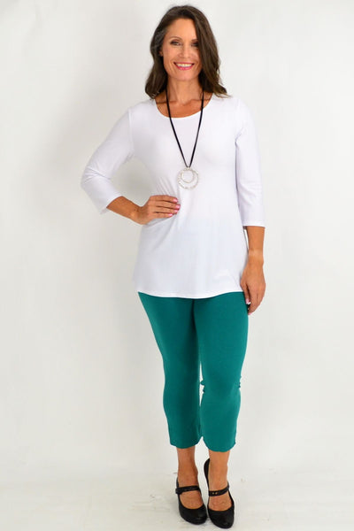 Jade Green Kita Ku 3/4 leggings | I Love Tunics | Tunic Tops | Tunic Dresses | Women's Tops | Plus Size Australia | Mature Fashion