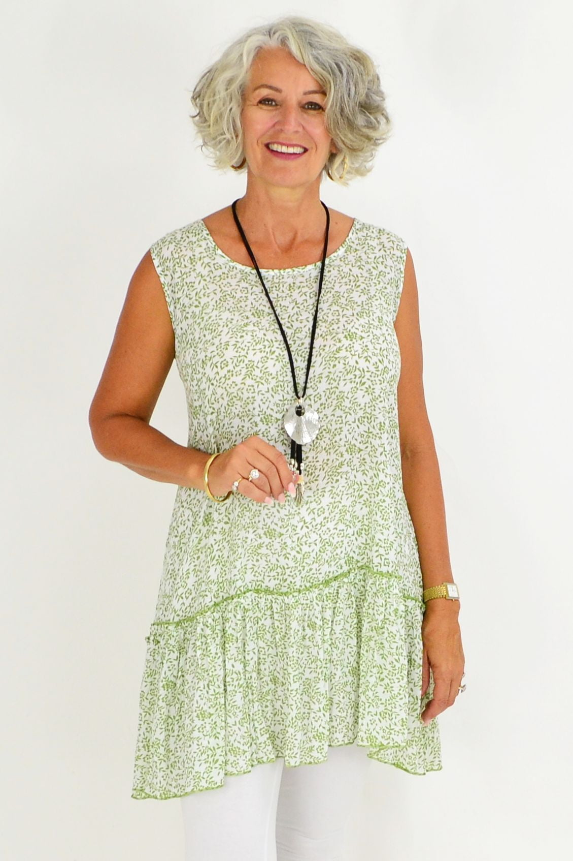Green Amelia Sleeveless Tunic | I Love Tunics | Tunic Tops | Tunic | Tunic Dresses  | womens clothing online
