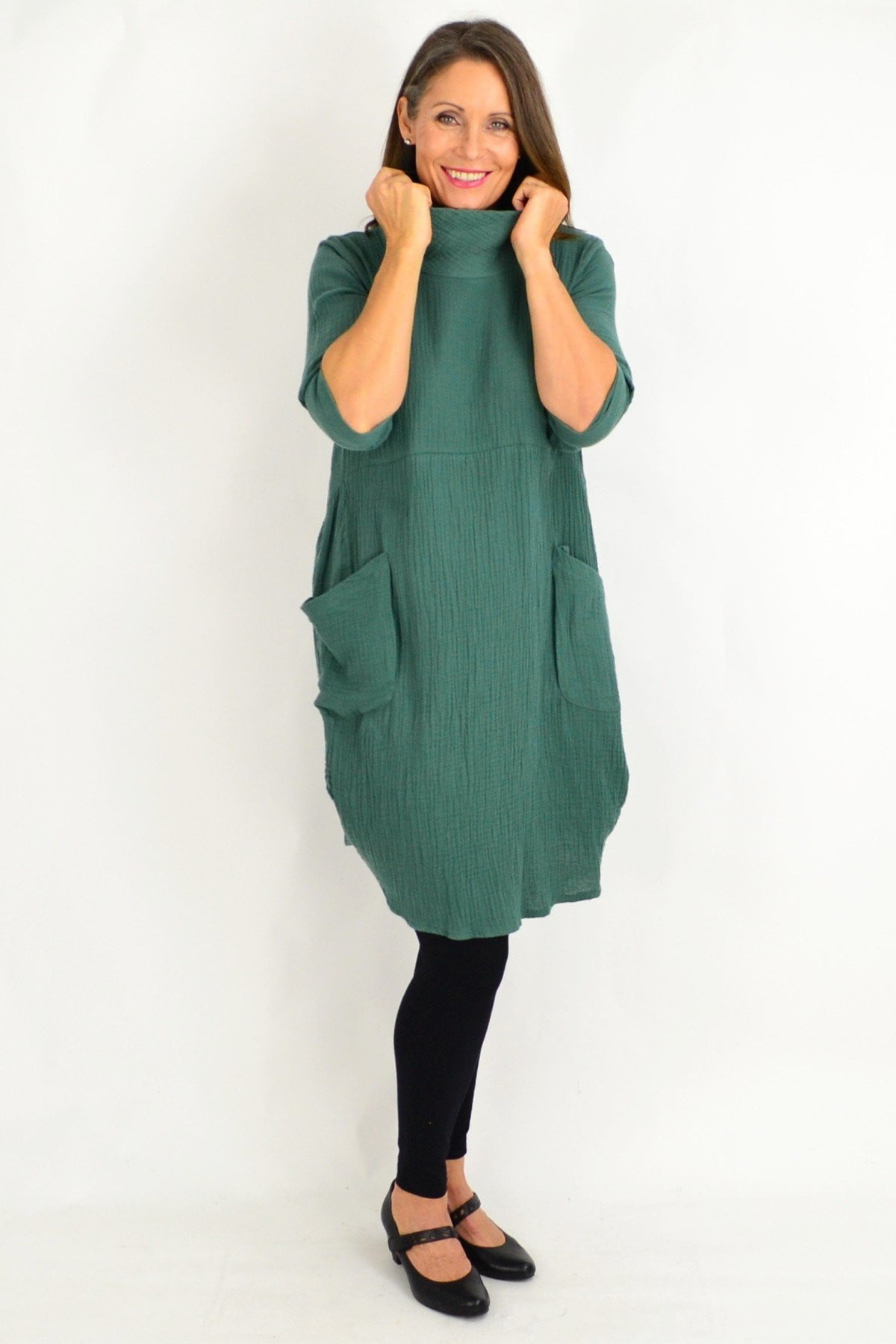 Teal Green Cotton Tunic Top | I Love Tunics | Tunic Tops | Tunic | Tunic Dresses  | womens clothing online