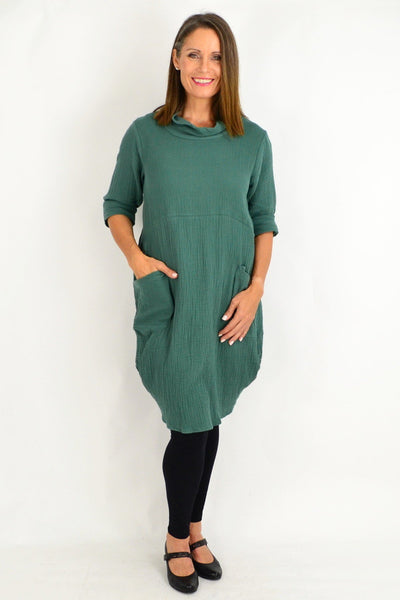 Teal Green Cotton Tunic Top