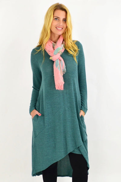 Green Andy Long Knit Tunic Dress | I Love Tunics | Tunic Tops | Tunic | Tunic Dresses  | womens clothing online