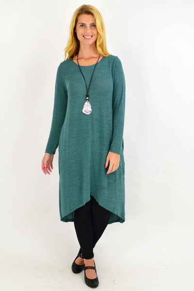 Green Andy Long Knit Tunic Dress