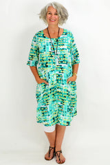 Turquoise Dotty Dot Tunic Dress | I Love Tunics | Tunic Tops | Tunic | Tunic Dresses  | womens clothing online