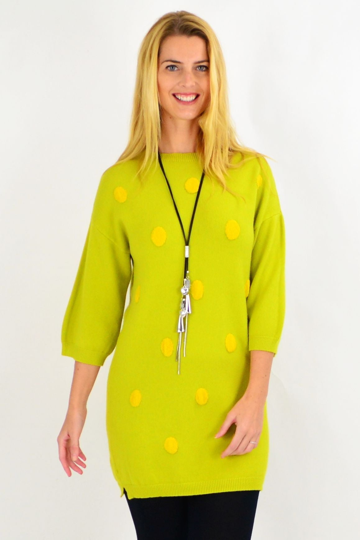 Lucy Lime Green Knit Tunic Jumper | I Love Tunics | Tunic Tops | Tunic | Tunic Dresses  | womens clothing online