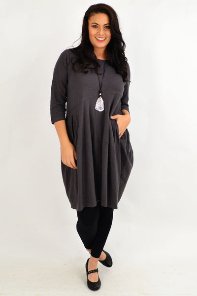 Bubble Grey Bounce Tunic Dress