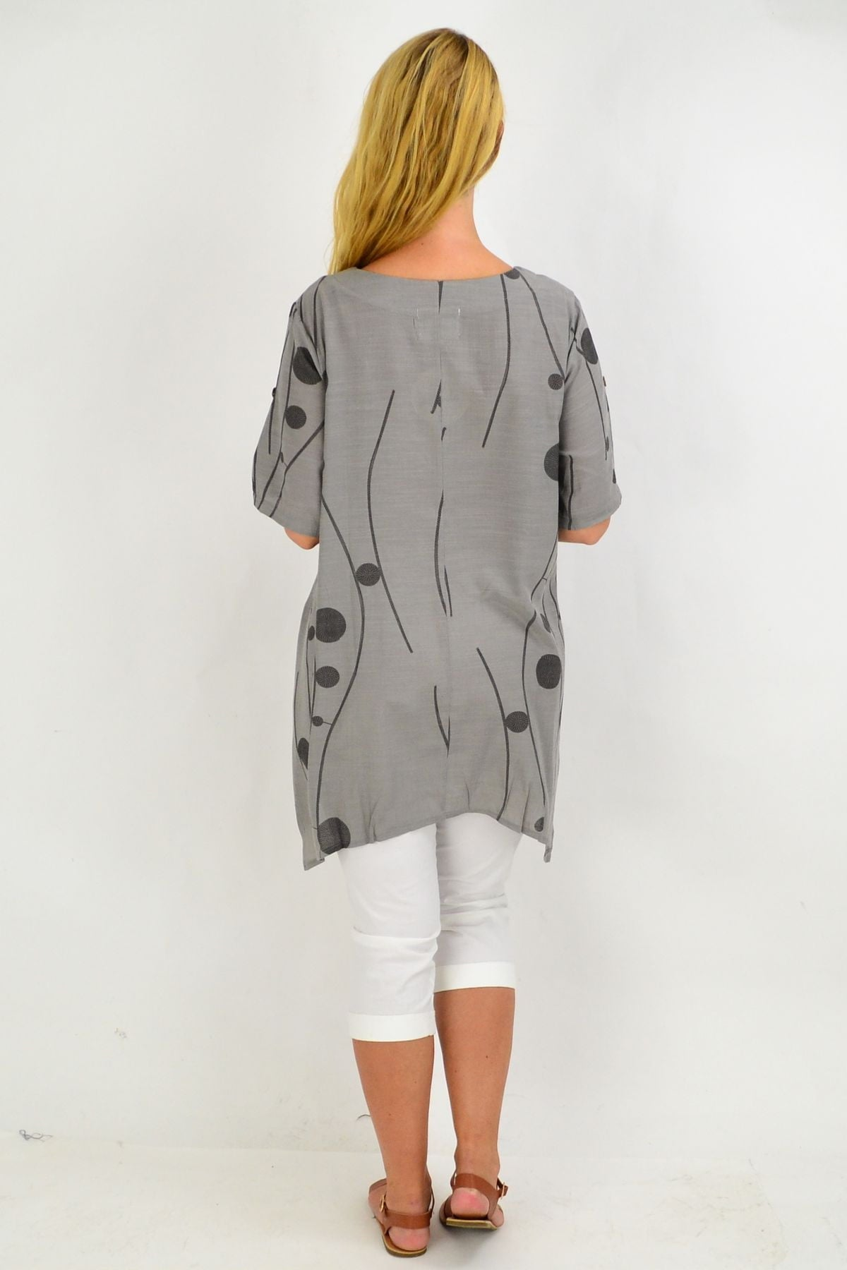 Charcoal Deb Dots Tunic Top | I Love Tunics | Tunic Tops | Tunic | Tunic Dresses  | womens clothing online