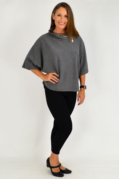 Grey Eve Relaxed Tunic Jumper