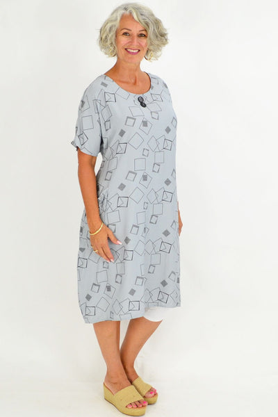 Silver Mila Square Tunic Dress