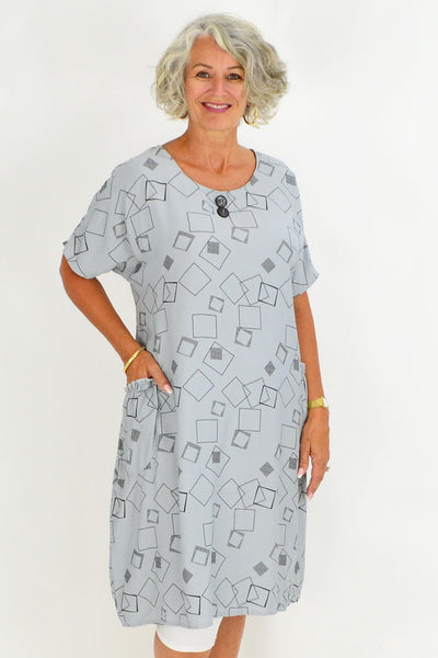 Silver Mila Square Tunic Dress | I Love Tunics | Tunic Tops | Tunic | Tunic Dresses  | womens clothing online