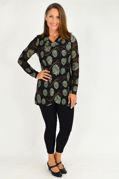 Barbara Roll Neck Tunic top