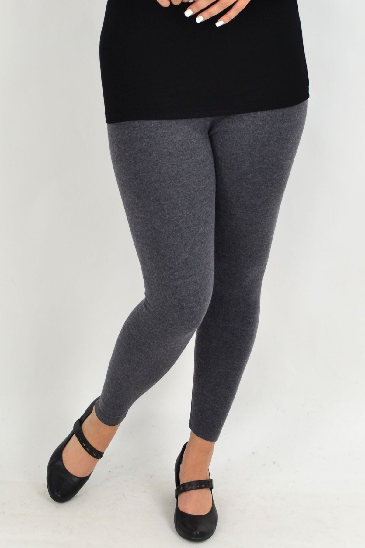 Long Winter Weight Grey Cotton Leggings | I Love Tunics | Tunic Tops | Tunic | Tunic Dresses  | womens clothing online