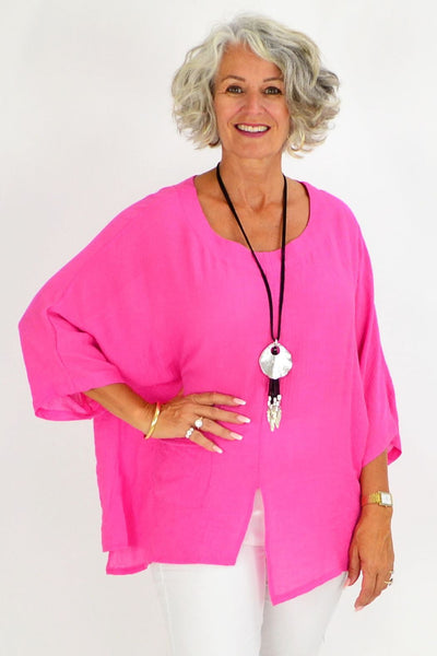 Hot Pink Marleen Tunic Blouse | I Love Tunics | Tunic Tops | Tunic | Tunic Dresses  | womens clothing online