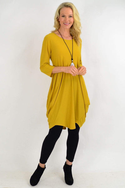 Mustard Sophia Tunic Dress