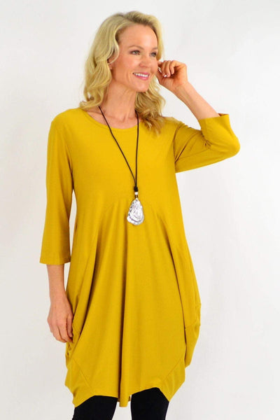Mustard Sophia Tunic Dress | I Love Tunics | Tunic Tops | Tunic | Tunic Dresses  | womens clothing online