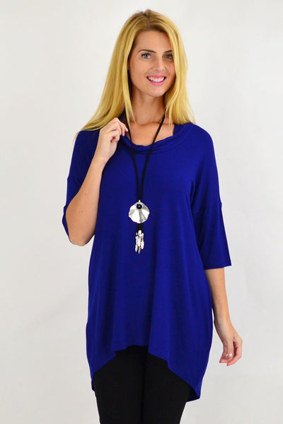 Royal Blue Bamboo Hi Low Tunic Top | I Love Tunics | Tunic Tops | Tunic | Tunic Dresses  | womens clothing online