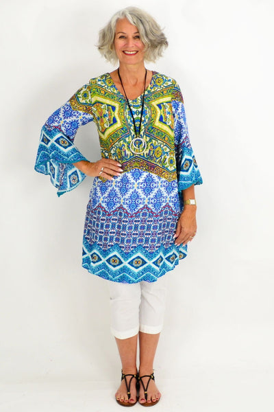 Barbaras Blue Tunic Top