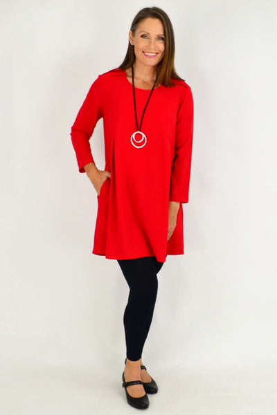 Red Mia Long Tunic