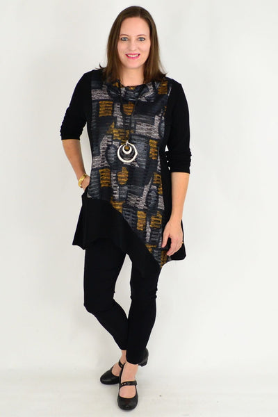 Rachel Rolled Neck Winter Tunic Top