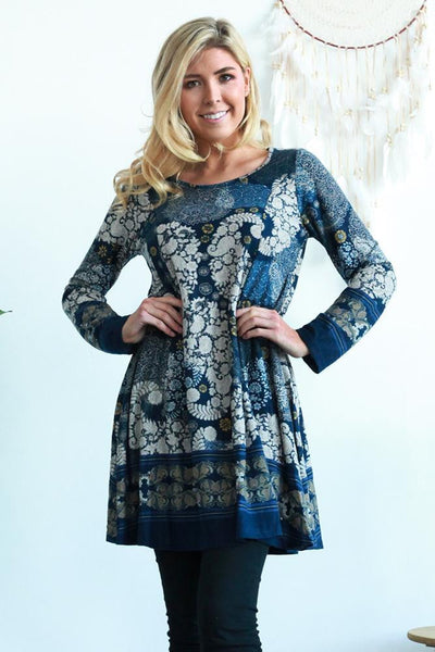 Paisley Floral Long Tunic