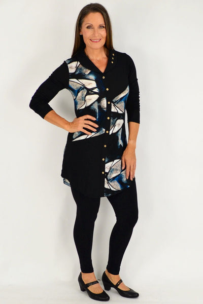Blue Janet Button Tunic