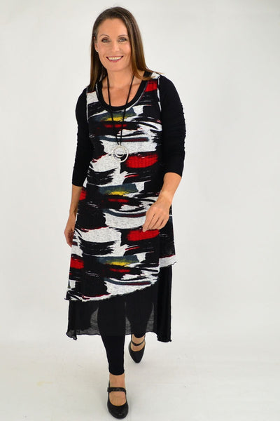 Annie Abstract Sleeveless Tunic Dress | I Love Tunics | Tunic Tops | Tunic Dresses | Women's Tops | Plus Size Australia | Mature Fashion