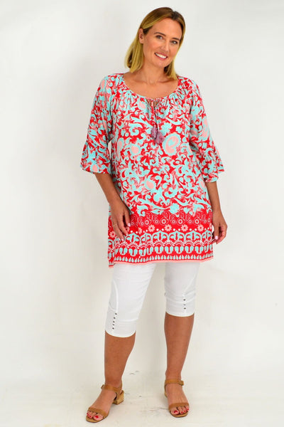 Peach Can Tunic Top Caftan