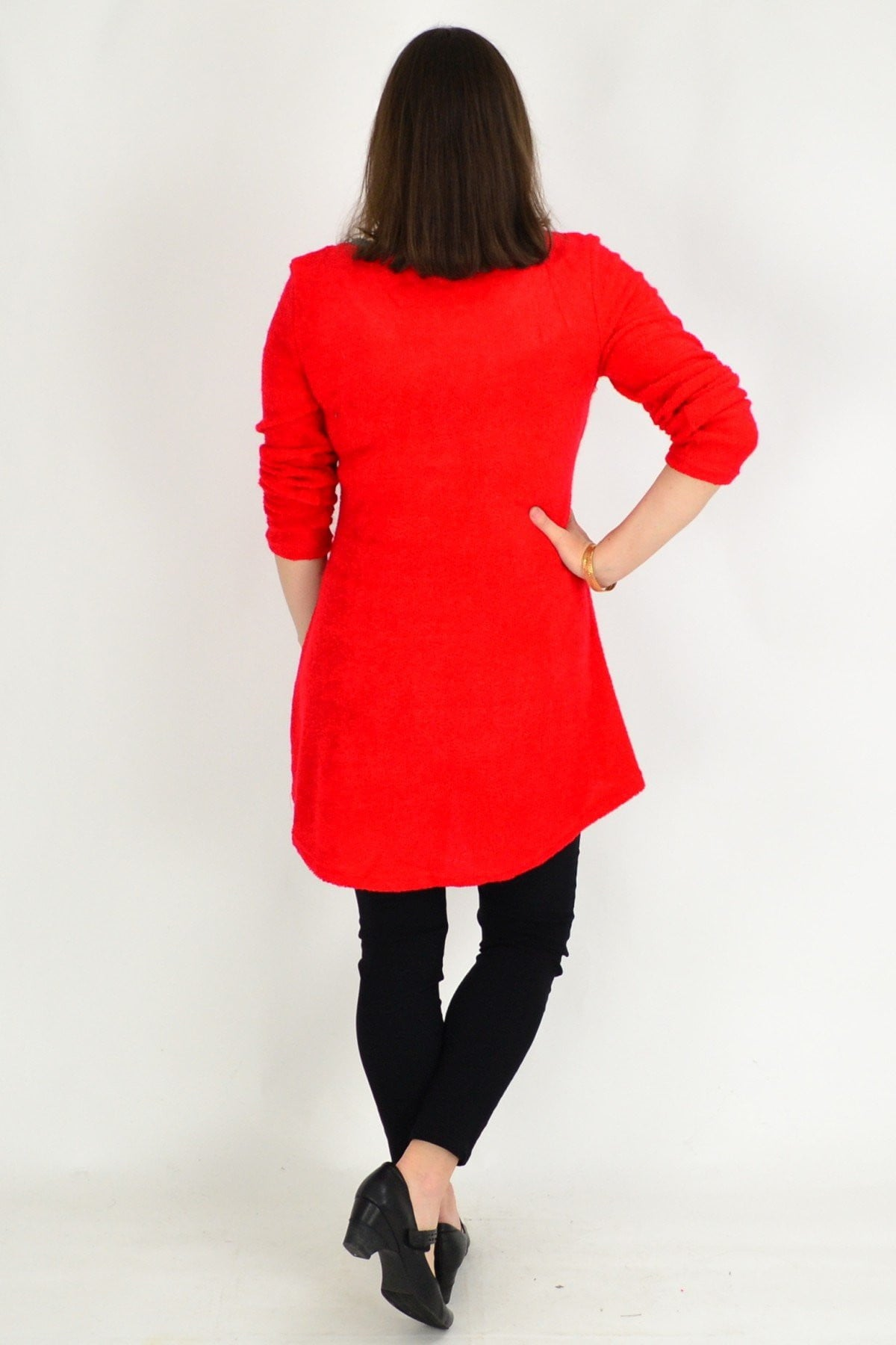 Red Woven Long Sleeve Winter Tunic Top | I Love Tunics | Tunic Tops | Tunic | Tunic Dresses  | womens clothing online