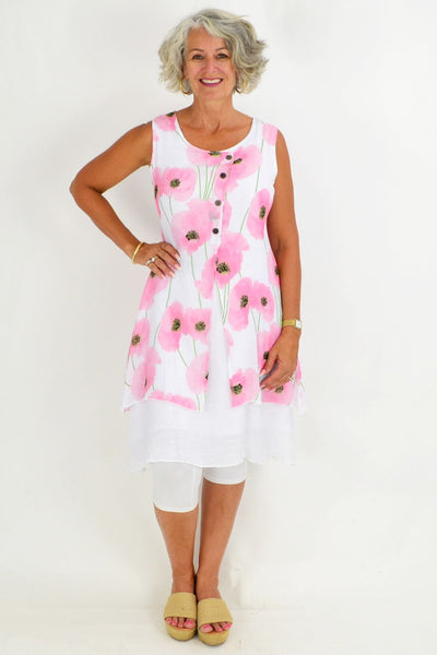 Pink Poppy Tunic Top