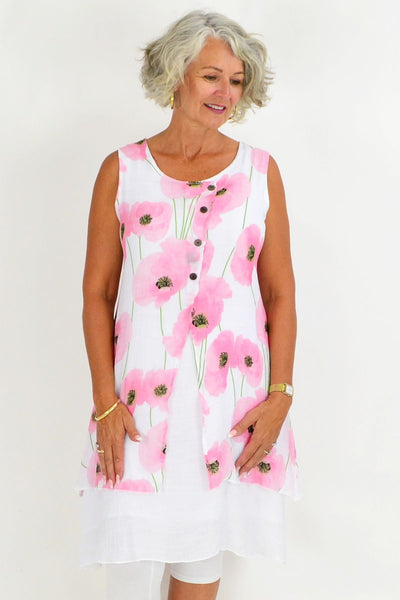 Pink Poppy Tunic Top | I Love Tunics | Tunic Tops | Tunic | Tunic Dresses  | womens clothing online