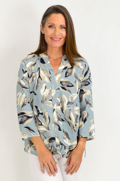 Grey Petal Tunic Shirt