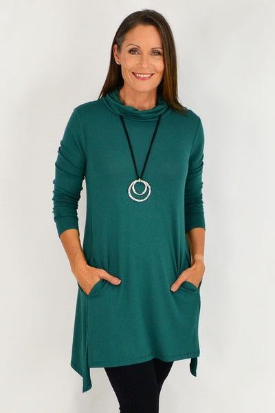 Green winter tunic Top