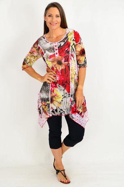 Cora Floral Tunic Top
