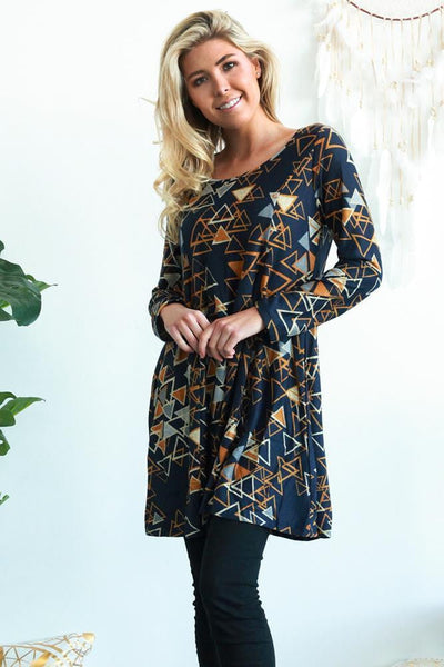 Trudy Triangle Tunic Dress