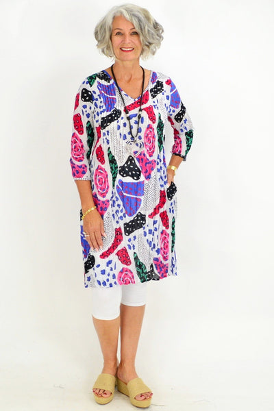 Kaira's Purple Patch Tunic Top