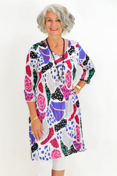 Kaira's Purple Patch Tunic Top | I Love Tunics | Tunic Tops | Tunic | Tunic Dresses  | womens clothing online