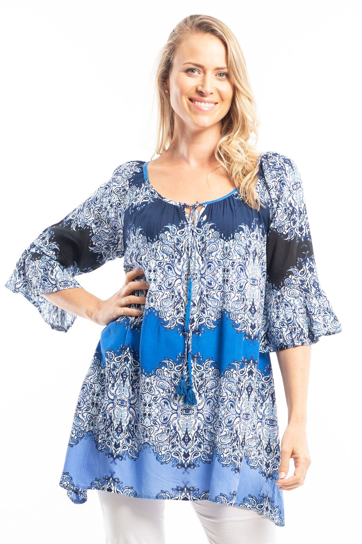 Easy Fit Ocean Wave Tunic Top | I Love Tunics | Tunic Tops | Tunic | Tunic Dresses  | womens clothing online