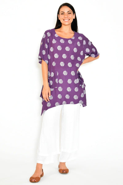 Purple Rita Relaxed Tunic Top