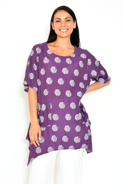 Purple Rita Relaxed Tunic Top | I Love Tunics | Tunic Tops | Tunic | Tunic Dresses  | womens clothing online