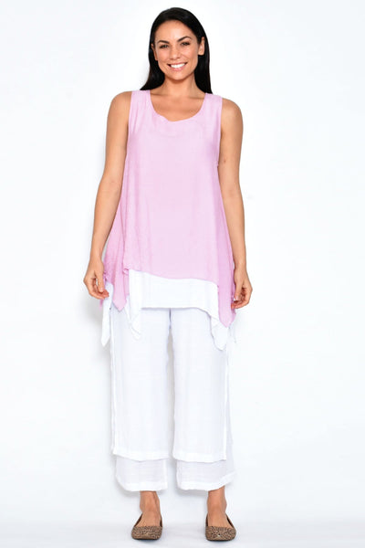 Baby Pink Overlay Tunic Top