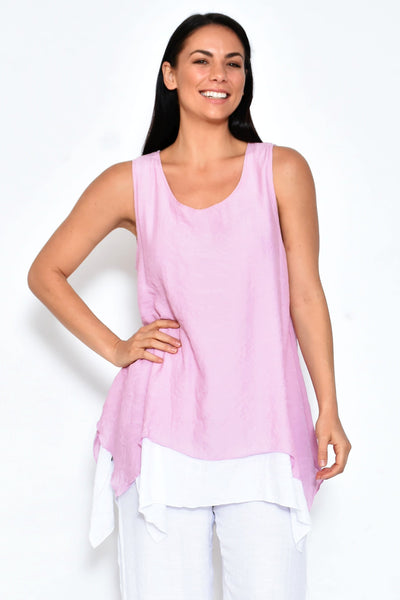 Baby Pink Overlay Tunic Top | I Love Tunics | Tunic Tops | Tunic | Tunic Dresses  | womens clothing online