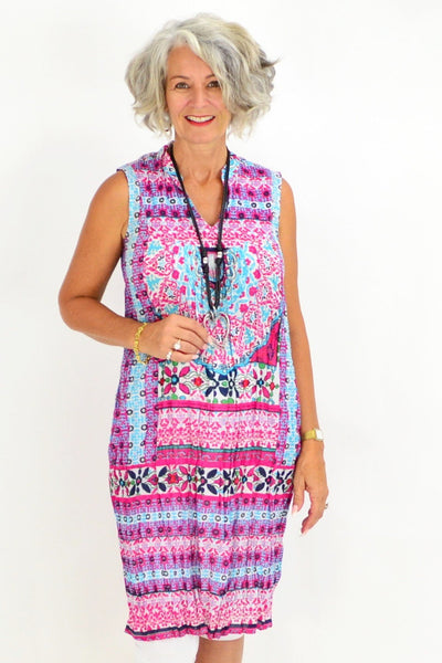 Ava Pink Tunic Dress | I Love Tunics | Tunic Tops | Tunic | Tunic Dresses  | womens clothing online