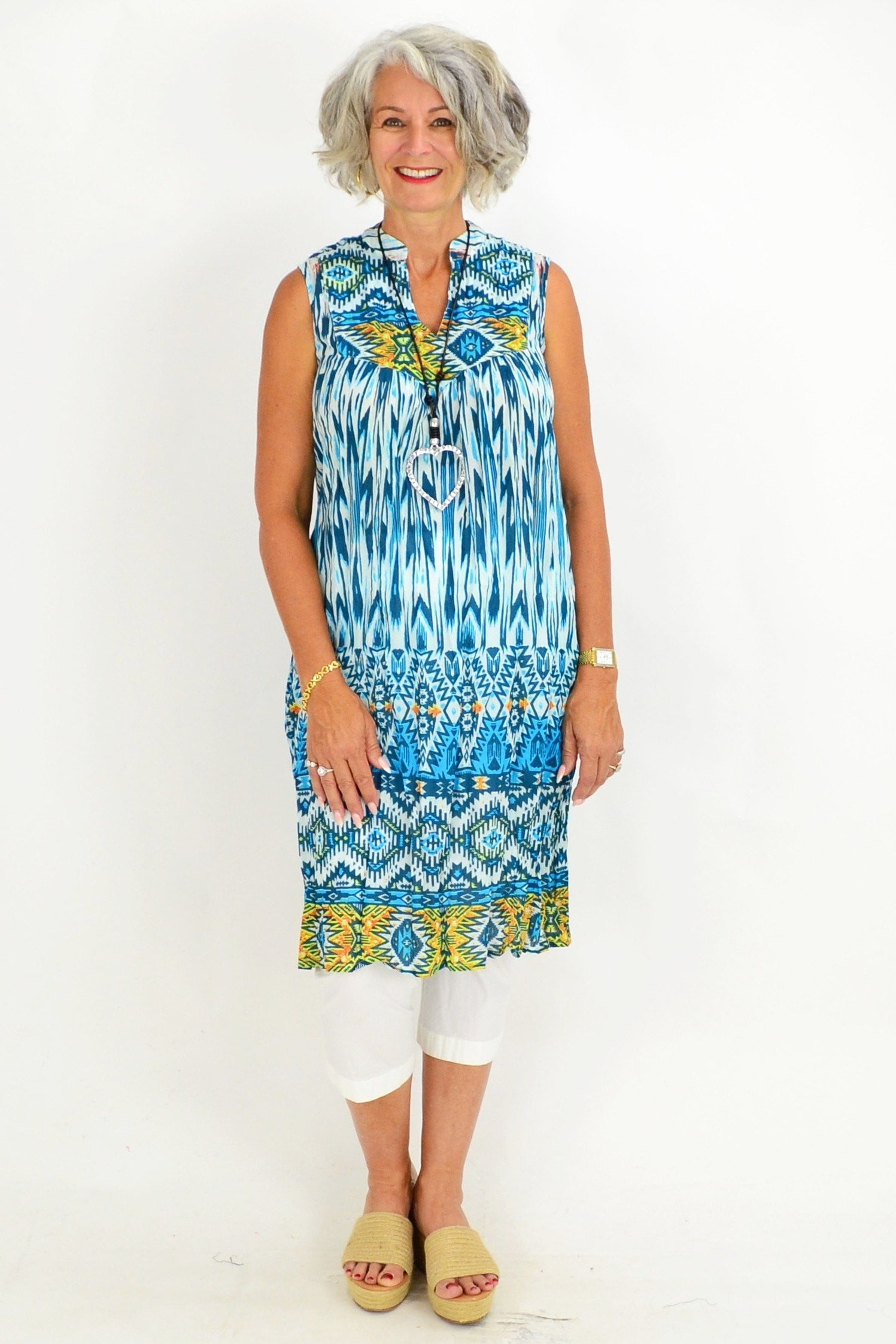 Ava Abstract Turquoise Tunic Dress | I Love Tunics | Tunic Tops | Tunic | Tunic Dresses  | womens clothing online