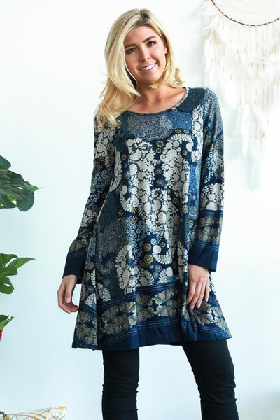 Lea Long Sleeve Tunic Dress