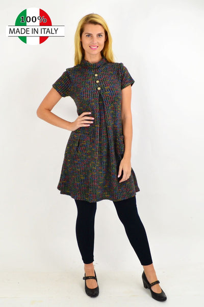 Skivvy Neck Button up Detail Tunic Dress | I Love Tunics | Tunic Tops | Tunic | Tunic Dresses  | womens clothing online
