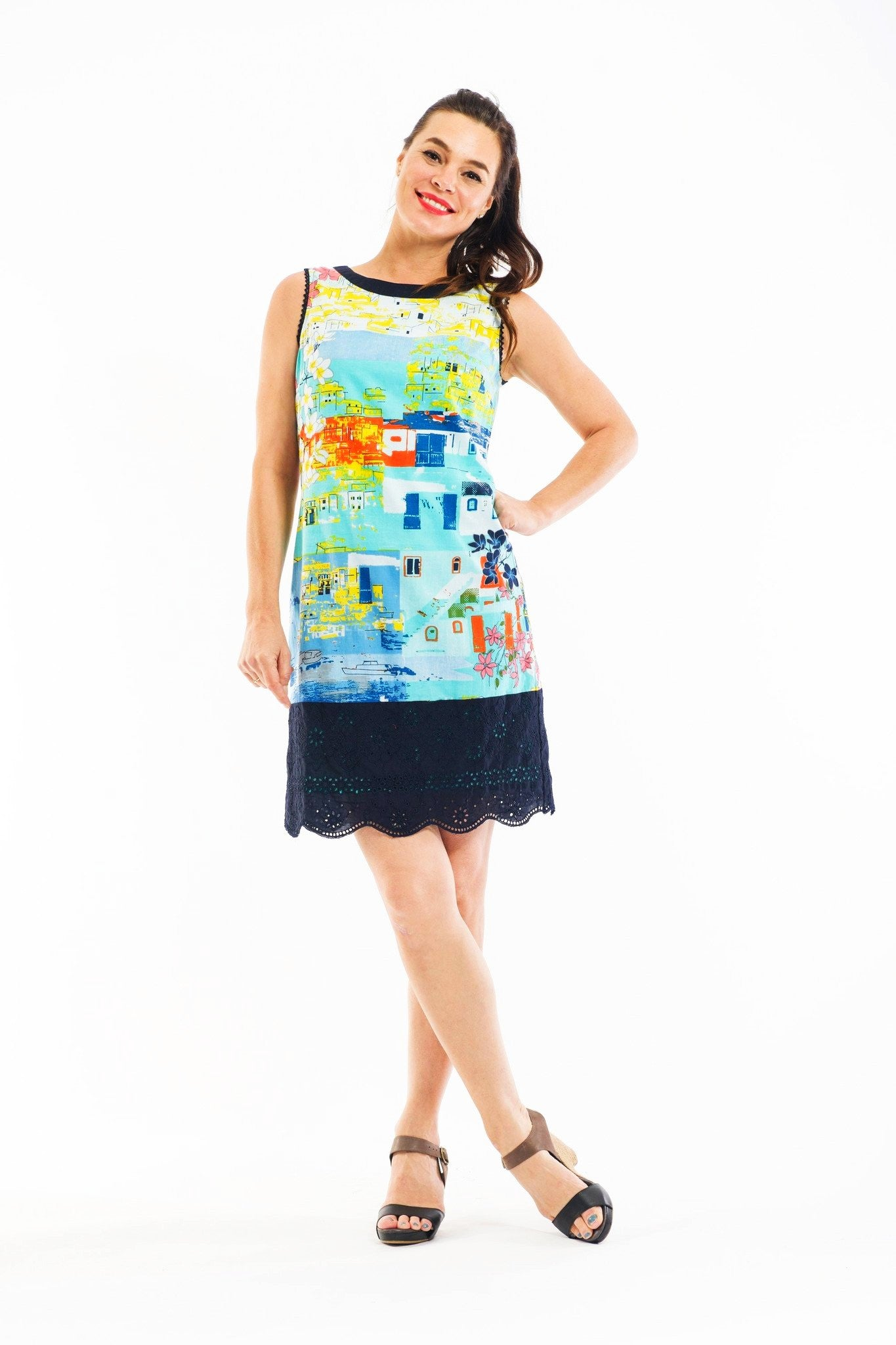 Greek Islands Trim Tunic Dress - at I Love Tunics @ www.ilovetunics.com = Number One! Tunics Destination