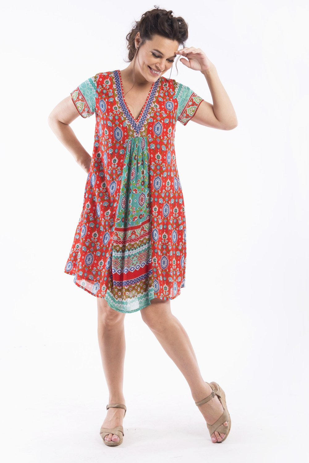 Easy Fit Kashi Tunic Dress | I Love Tunics | Tunic Tops | Tunic Dresses | Women's Tops | Plus Size Australia | Mature Fashion
