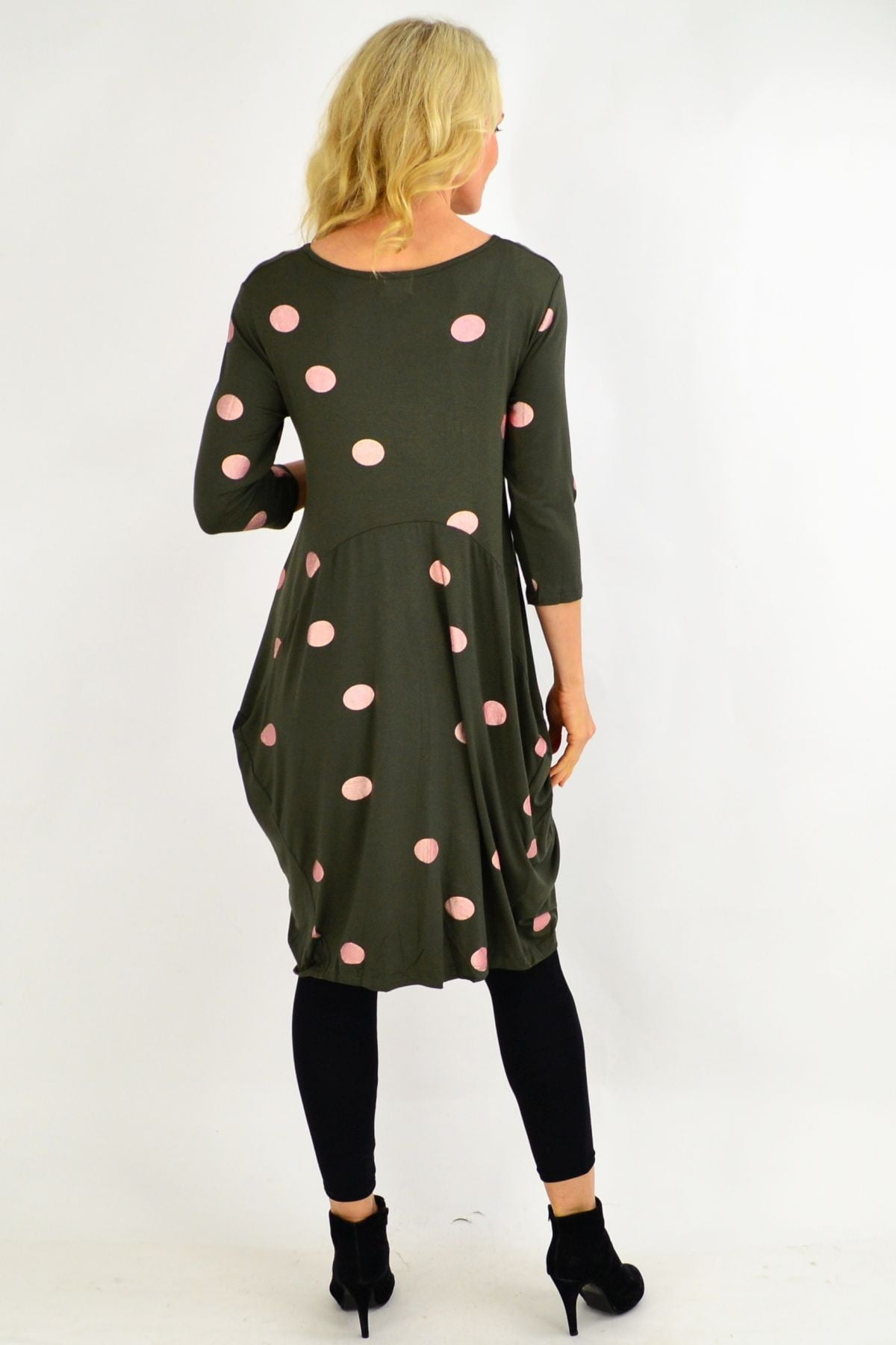 Khaki Spot Cocoon Tunic Dress | I Love Tunics | Tunic Tops | Tunic | Tunic Dresses  | womens clothing online