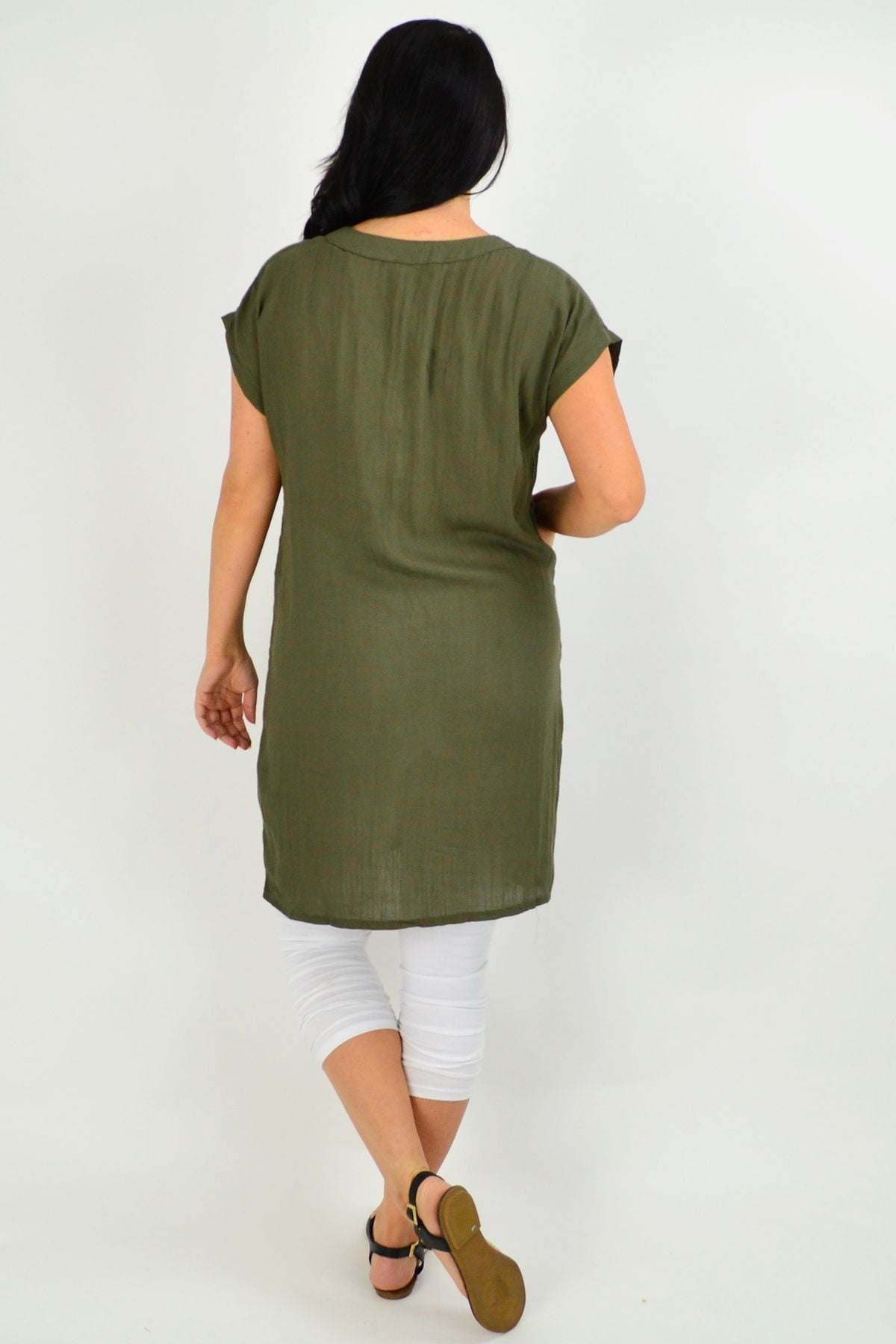 Khaki Willow Tunic Dress | I Love Tunics | Tunic Tops | Tunic | Tunic Dresses  | womens clothing online