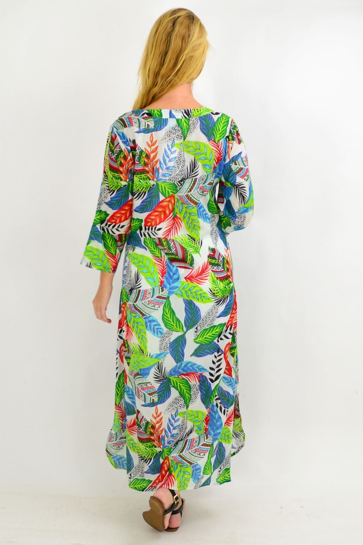 Green Leaf One Summer Maxi Tunic Dress | I Love Tunics | Tunic Tops | Tunic | Tunic Dresses  | womens clothing online