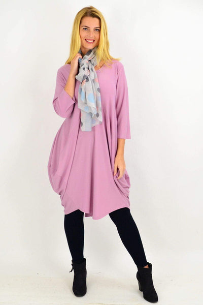 Dusty Pink Sophia Tunic Dress | I Love Tunics | Tunic Tops | Tunic | Tunic Dresses  | womens clothing online